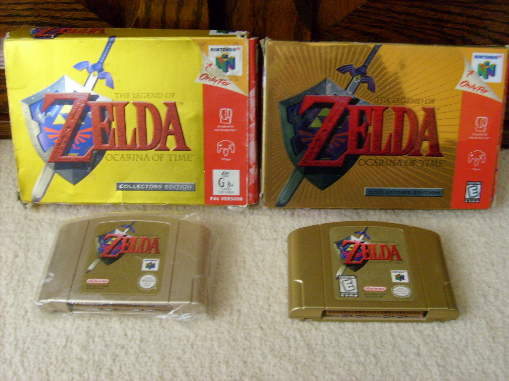 Are there two different Ocarina or Time gold cartridges