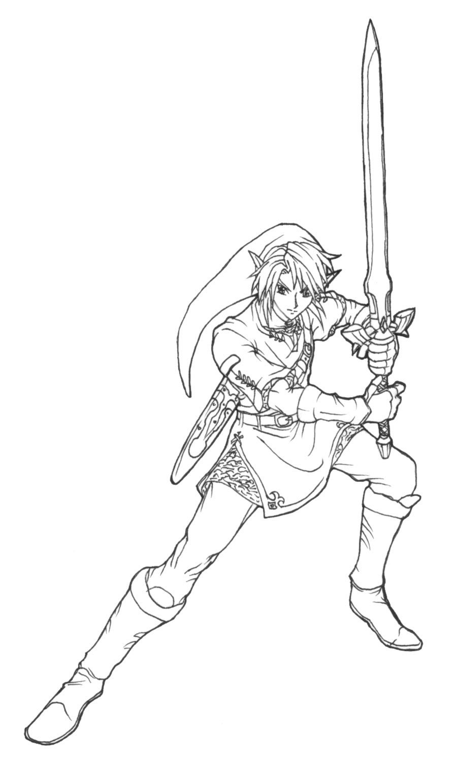 The North Castle Zelda Fan Art Gallery Onichild Link Twilight Princess Coloring Pages Printable